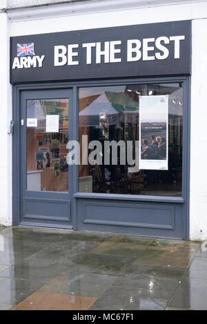Army Careers Office in Salisbury Wiltshire UK - Stock Photo