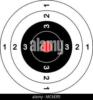 Uncluttered target llustration with red bullseye - Stock Photo