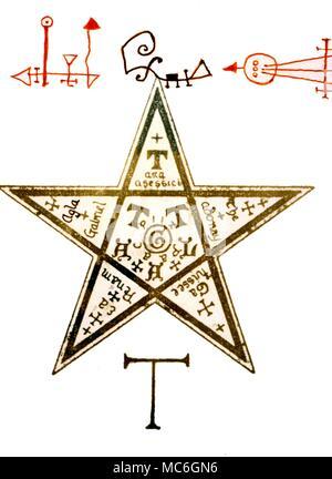 Pentagram Sigil Stock Photo 56699155 Alamy