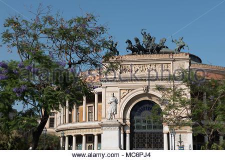 teatro politeama garibaldi, palermo - Stock Photo