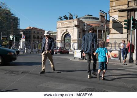 teatro politeama garibaldi, piazza ruggero settimo, palermo - Stock Photo