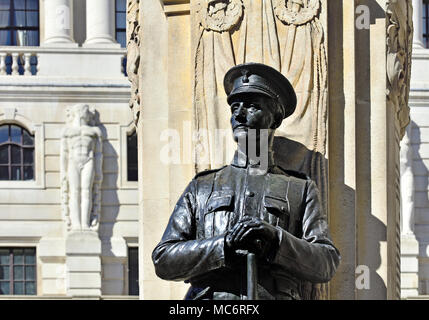 London,England, UK. London Troops War Memorial, in front of the Bank of England - Stock Photo