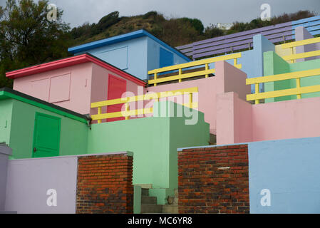 Seaside sheds, Folkestone Kent - Stock Photo