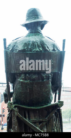 John Ford statue in Portland Maine - Stock Photo