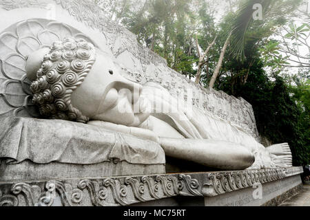 Chua Long Son Pagoda, Nha Trang, Vietnam - Stock Photo