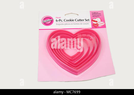 Pack of Heart Shape Cookie Cutters - Stock Photo