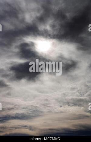 Dramatic threatening stormy clouds - Stock Photo