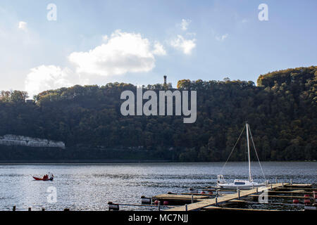 Hagen, Ruhr Area, North Rhine Westphalia ,Germany - Ocotober 14 2017: The Harkortsee lake on a sunny day - Stock Photo