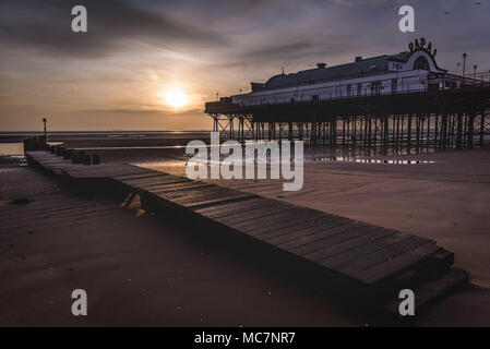 Cleethorpes Pier at Sunrise - Stock Photo