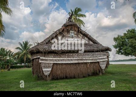 Haus Tambaran of Korogo Village, Middle Sepik, Papua New Guinea - Stock Photo