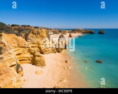 Praia de Sao Rafael (Sao Rafael beach) in Algarve region, Portugal. - Stock Photo