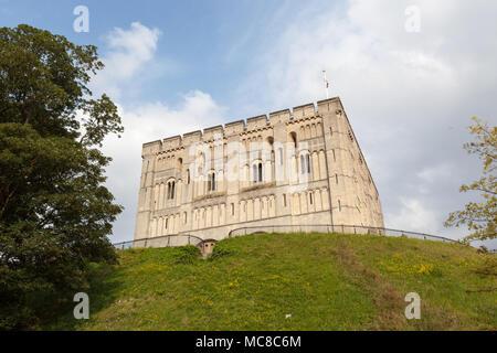 Norwich Castle in Norfolk, England, UK - Stock Photo