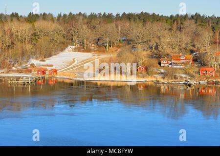 Stockholm archipelago, largest archipelago in Sweden, and second-largest archipelago in Baltic Sea. Spring landscape - Stock Photo