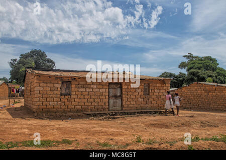 Cottage near the province of malanje africa. Angola. - Stock Photo