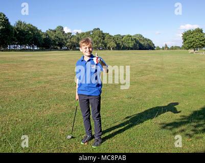 Junior golfer - Stock Photo