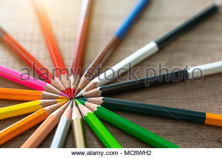 Crayon Concept design - Stock Photo