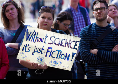 March for Science, London, UK.  14 April 2018. - Stock Photo