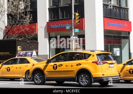 New York City Street Scene on Park Avenue South at E. 25th Street Corner, USA - Stock Photo