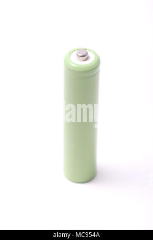 Rechargeable AA battery isolated on white background - Stock Photo