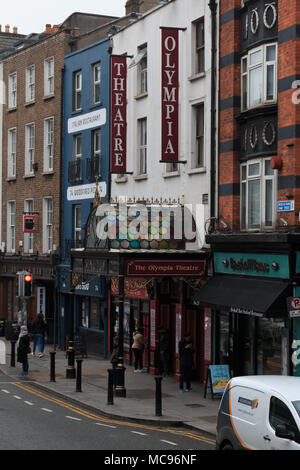 April 12th, 2018, Dublin Ireland - The Olympia Theatre, a concert hall and theatre venue located in Dame Street. - Stock Photo