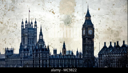 London. Houses of Parliament. Big Ben. Palace of Westminster. - Stock Photo