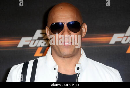 Jan 19, 2018 - Vin Diesel attending Fast & Furious Live at The O2 Arena in London, England, UK - Stock Photo