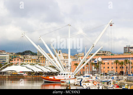 GENOA, ITALY - JUNE 23, 2017 View of Genoa italy - Porto Antico - Stock Photo