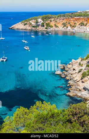 Es vedra island of Ibiza  Cala d Hort in Balearic islands - Stock Photo
