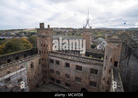 Linlithgow Palace in the town of Linlithgow, West Lothian, Scotland - Stock Photo