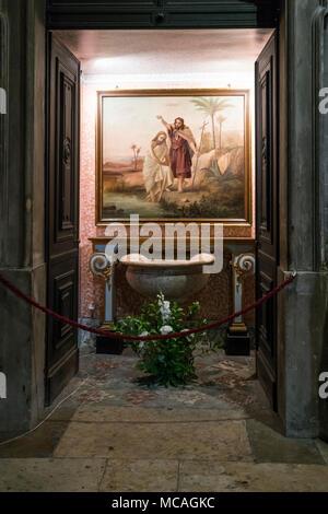 A interior view of Sao Domingo church in Lisbon, Portugal - Stock Photo