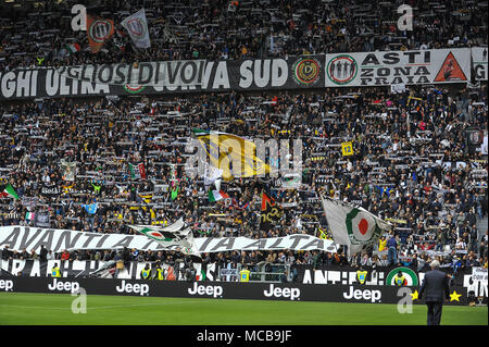 Turin, Italy. 15th Apr, 2018. during the Serie A football match between Juventus FC and UC Sampdoria at Allianz Stadium on 15 April, 2018 in Turin, Italy. Credit: FABIO PETROSINO/Alamy Live News - Stock Photo