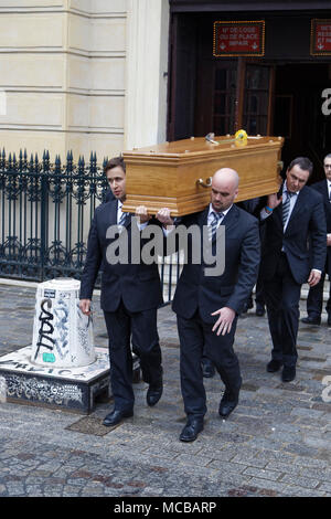 Paris, France. 12th Apr, 2018. Jacques Higelin funeral at the Cirque d'Hiver on April 12, 2018 in Paris, France. - Stock Photo