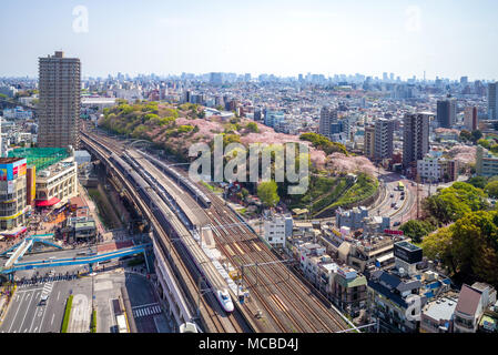 railway and metro system of tokyo, japan - Stock Photo