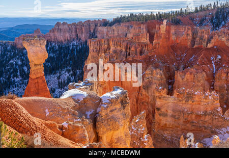Scenic Bryce Canyon National Park Utah Landscape in Winter - Stock Photo