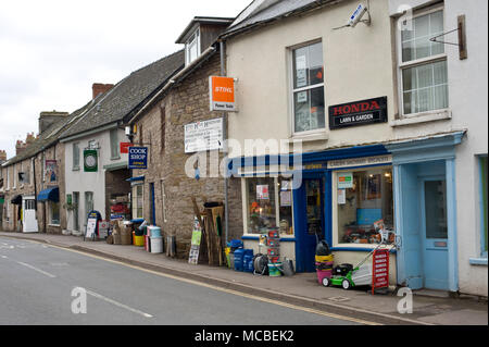 Exterior of traditional hardware shop in Hay-on-Wye Powys Wales UK - Stock Photo