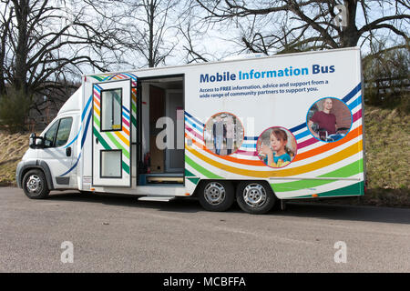 NHS Mobile Information Bus - Stock Photo