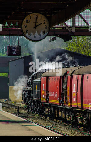 British Railways Standard Class 5 73050 preserved British steam locomotive. Unnamed in service it has been named City of Peterborough. Nene Valley - Stock Photo