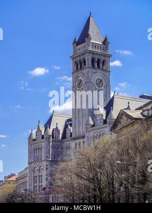 Old Post Office Pavilion in Washington, DC. - Stock Photo