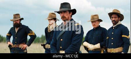 Hostiles is a 2017 period drama film directed by Scott Cooper. It stars Christian Bale, Rosamund Pike, Wes Studi, Adam Beach, Ben Foster, Jesse Plemons, Rory Cochrane, and Q'orianka Kilcher.  This photograph is for editorial use only and is the copyright of the film company and/or the photographer assigned by the film or production company and can only be reproduced by publications in conjunction with the promotion of the above Film. A Mandatory Credit to the film company is required. The Photographer should also be credited when known. - Stock Photo