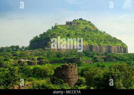 Daulatabad or Devagiri fort in Marathwada, Maharashtra - Stock Photo