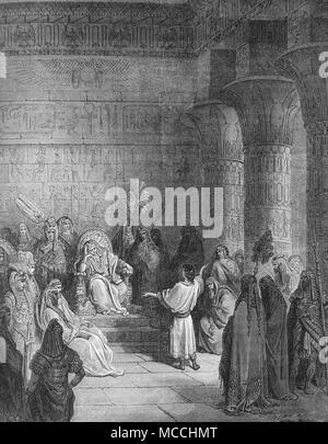 Joseph Interpreting Pharaoh's Dream. Bible illustration by Gustave Doré - Stock Photo