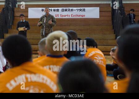CAMP HANSEN, OKINAWA, JAPAN – Col  Brian Howlett gives an