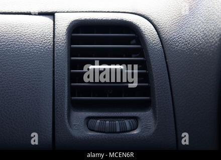 Close up air conditioner ockpit car exit flow - Stock Photo