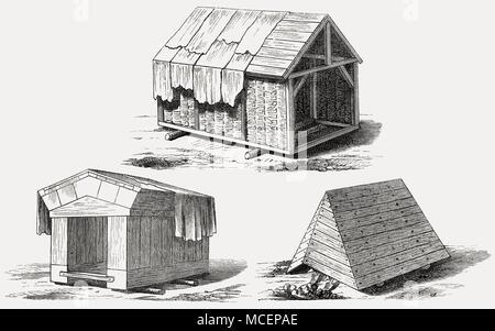 Mobile shelter called a tortoise, Roman siege engines designed by Gaius Iulius Caesar - Stock Photo