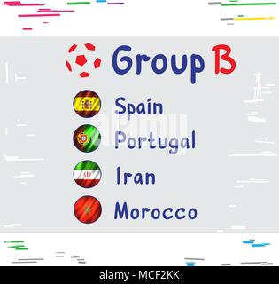 Football Cup Russia Group B - Stock Photo