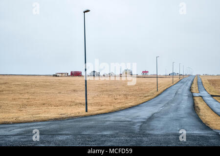 Garðskagi, Garður, Iceland, at the tip of the Reykjanes peninsula, on a typically grey and rainy day - Stock Photo