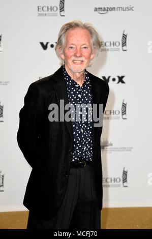 Klaus Voormann attends the 27th Echo Award 2018 at Messe Berlin on April 12, 2018 in Berlin, Germany. - Stock Photo