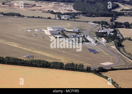 Aerial view of Goodwood Aerodrome Goodwood Race Circuit Chichester West Sussex - Stock Photo