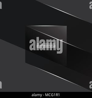 Abstract monochromatic gray surfaces background with highlights - Stock Photo