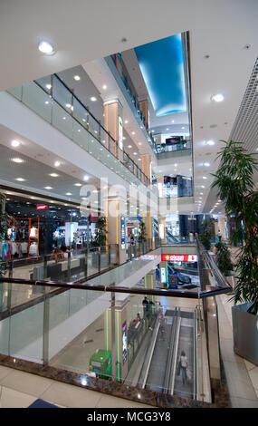 Voronezh, Russia - June 5, 2013: The interior of the shopping center 'Chizhov Gallery', Voronezh - Stock Photo